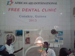Children receiving treatment in our free dental clinic